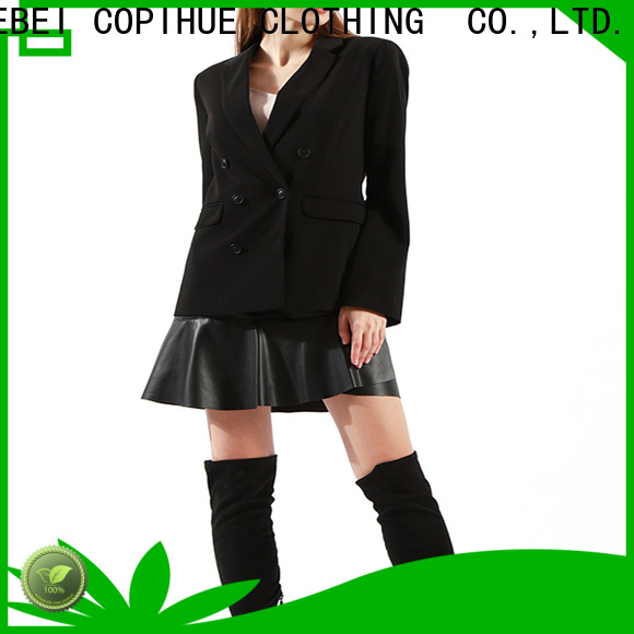 COPIHUE CLOTHING long black jacket manufacturer for work office