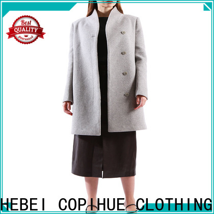 good quality long black coat women factory price for women