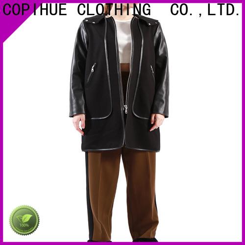 good quality black winter coat factory price for ladies
