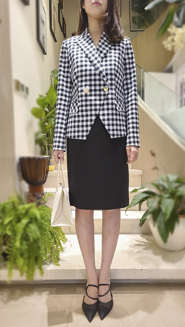 LADIES GINGHAM BLAZER