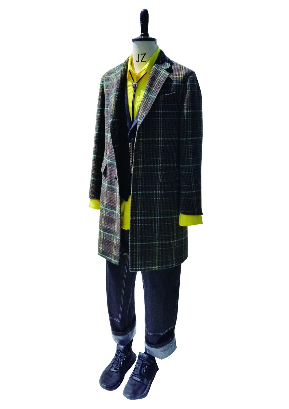 Classic Blended Checked Overcoat