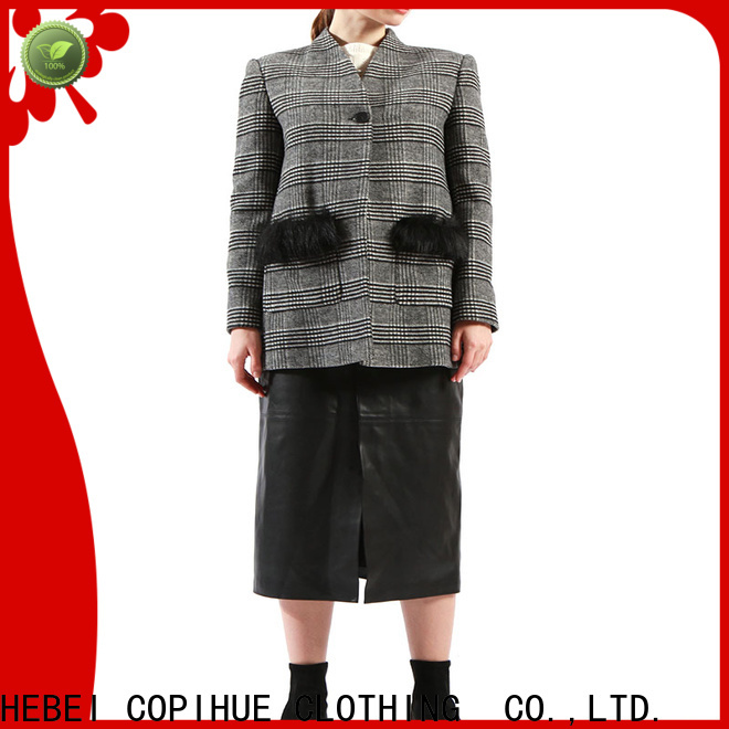 beautiful cotton jacket factory price for work office