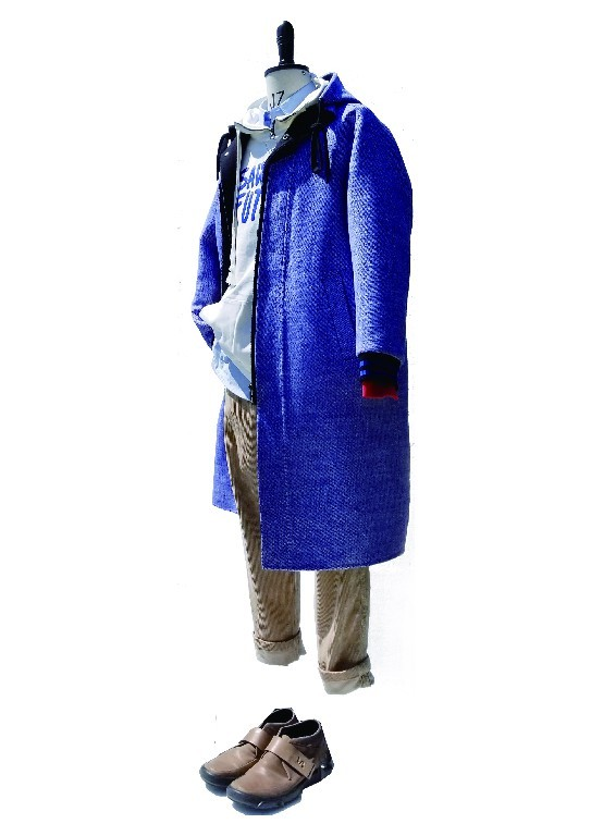 Front zip hoodie long coat