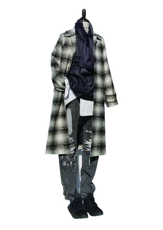 Men's Wool Sophisticated Plaid  Coat