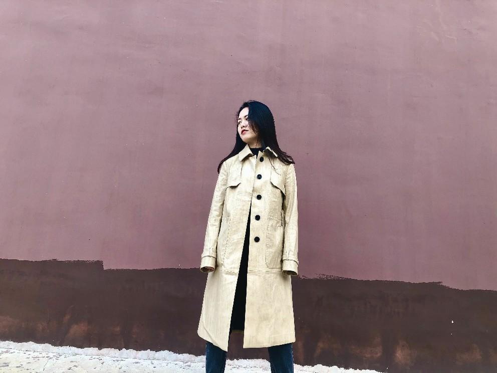 Women fashion PU Coat
