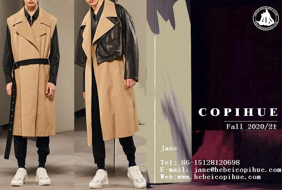 A men's trench coat with two ways to wear.