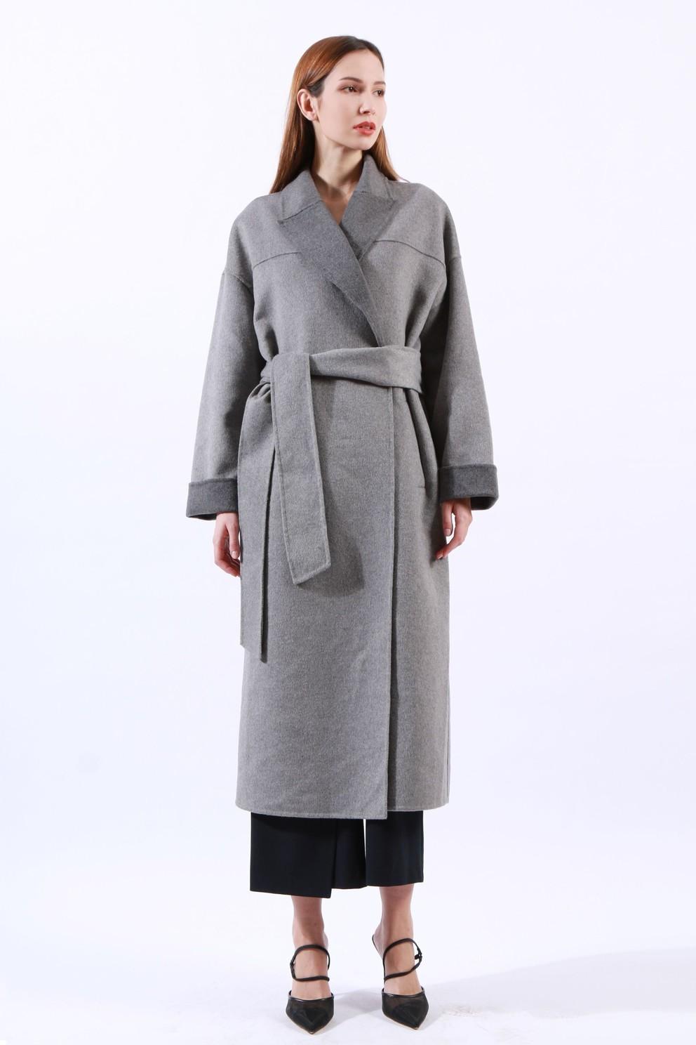 Womens double face long coat