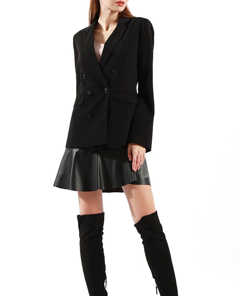 Ladies Longline Blazer Notch Lapel Jacket Styles Wholesale