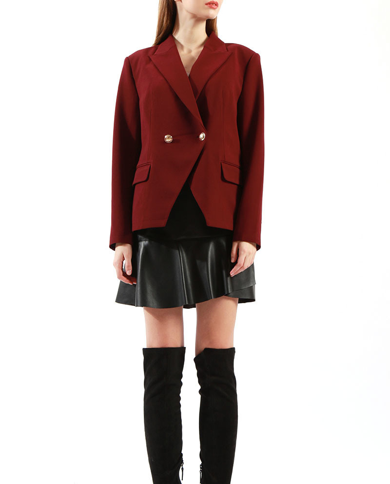 Professional Ladies Jacket Styles  Double Breasted Red Blazer on Sale