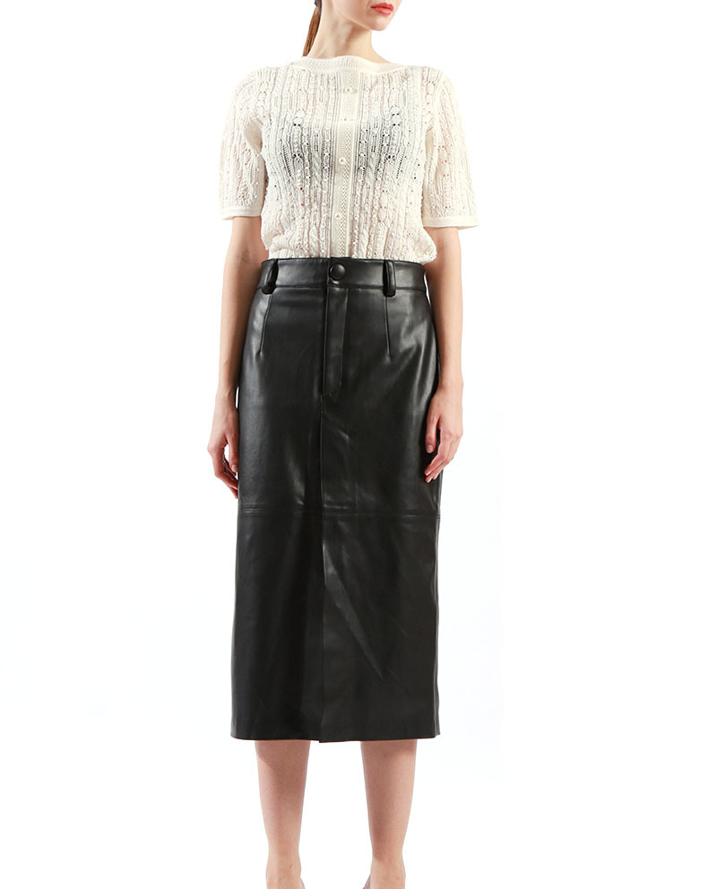 Ladies Office Skirt PU Long Leather Skirts Fashion Style on Sale