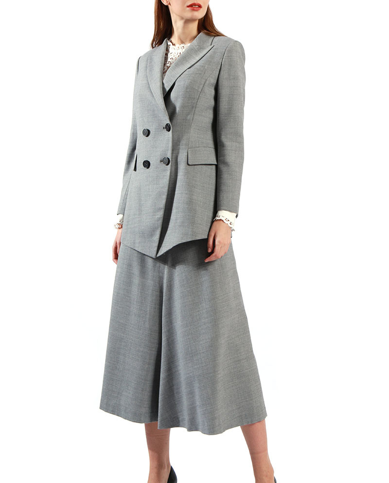 Women Tailored Suits Formal Dress With Jacketr With Loose Pants Suit