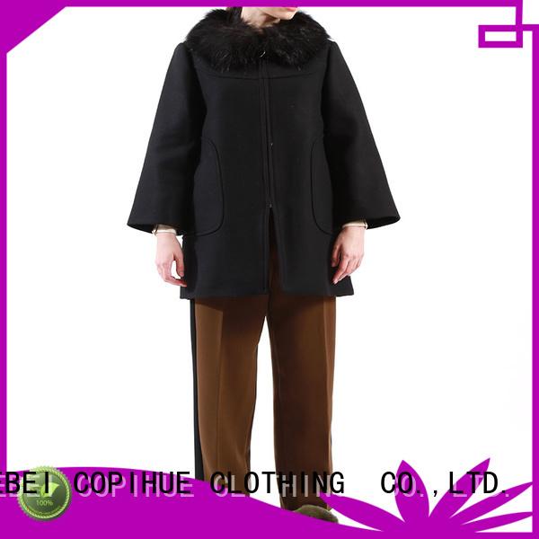 fashion black cape factory price for casual