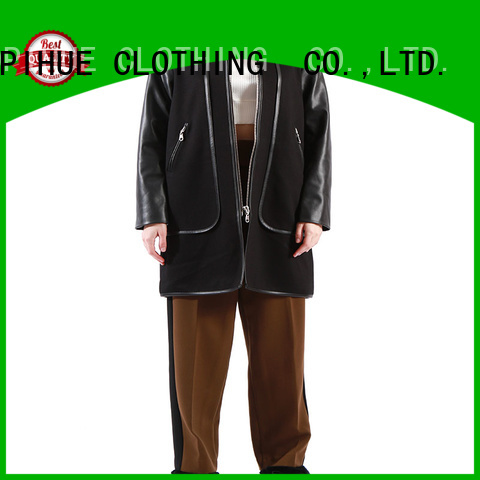 COPIHUE CLOTHING beautiful black winter coat factory price for female