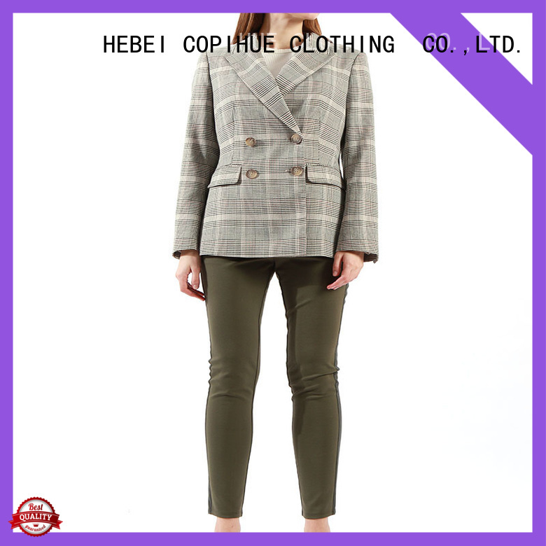 COPIHUE CLOTHING comfortable grey blazer manufacturer for daily casual