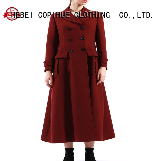 COPIHUE CLOTHING black winter coat factory price for women