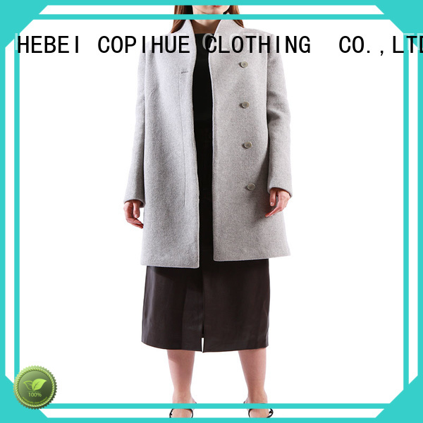 COPIHUE CLOTHING good quality long black coat women on sale for women