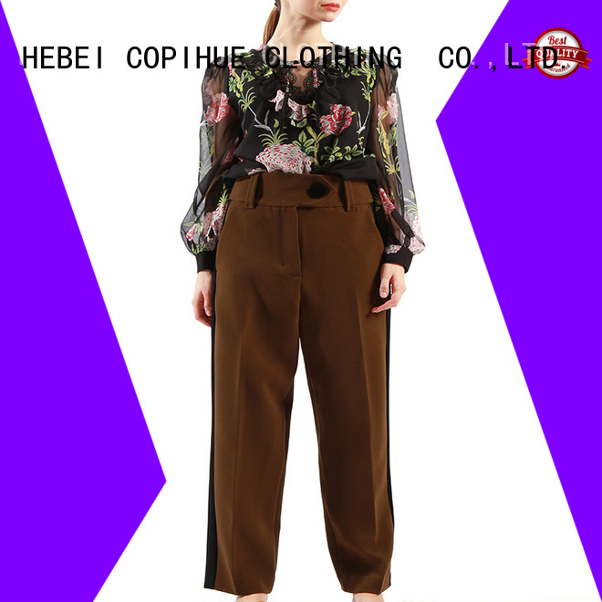 hot selling smart trousers manufacturer for women