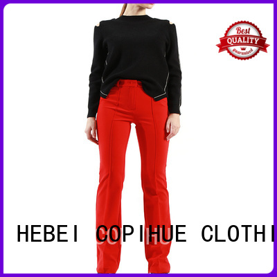 COPIHUE CLOTHING comfortable ladies cropped trousers from China for women