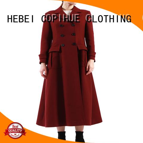 popular red coat women manufacturer for women